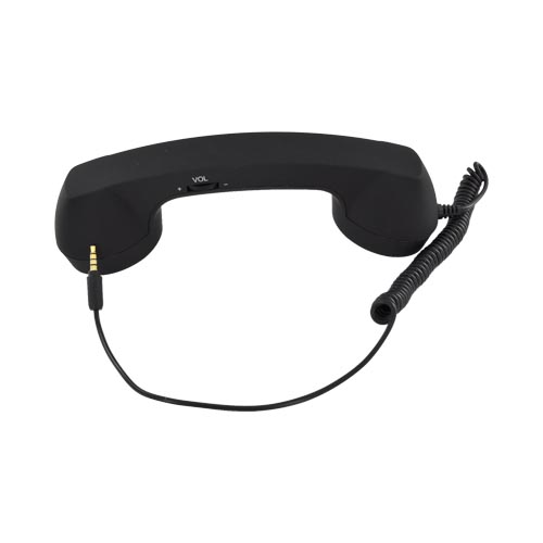 Universal Retro Soft Touch Telephone Handset (3.5mm) - Bossy Black