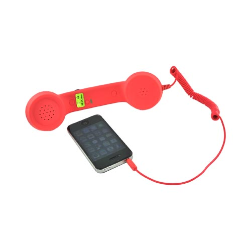Universal Retro Soft Touch Telephone Handset (3.5mm) - Classy Coral