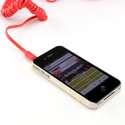 Original Native Union Retro Mobile Phone Handsets (3.5mm) - Red