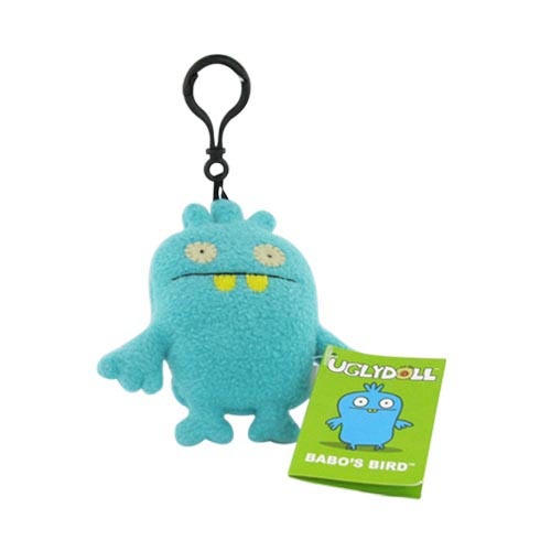 UGLYDOLL Plush Babo's Bird Clip On Charm Strap - Teal