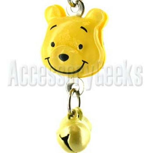 Yellow Bear with Bells Handstrap , Charm