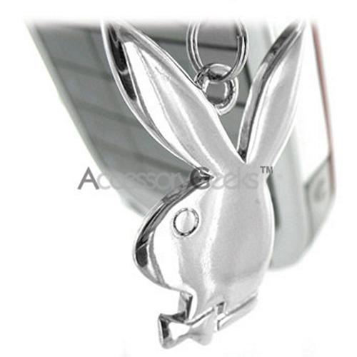 Licensed Playboy Bunny Cell Phone Charm - Silver