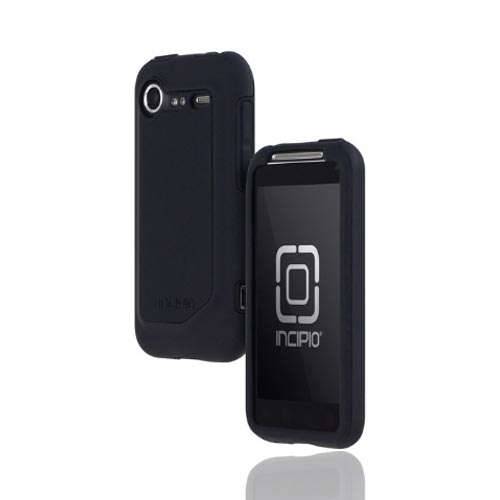 Original Incipio HTC Droid Incredible 2 Silicrylic Dual Hard Case on Silicone w/ Screen Protector, HT-166 - Black