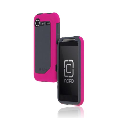 Original Incipio HTC Droid Incredible 2 Silicrylic Dual Hard Case on Silicone w/ Screen Protector, HT-167 - Hot Pink/ Black