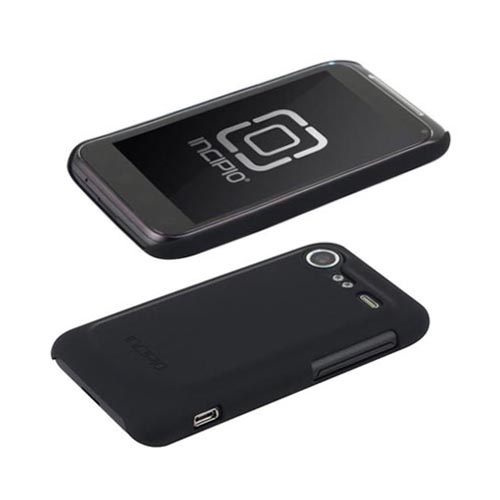 Original Incipio Feather HTC Droid Incredible 2 Ultra Thin Rubberized Hard Case w/ Screen Protector, HT-170 - Black