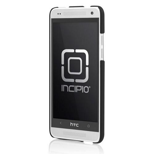 Incipio Black Feather Series Rubberized Hard Case w/ Screen Protector for HTC One Mini - HT-371