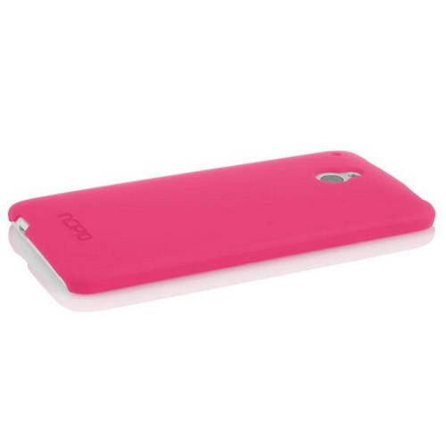 Incipio Hot Pink Feather Series Rubberized Hard Case w/ Screen Protector for HTC One Mini - HT-372