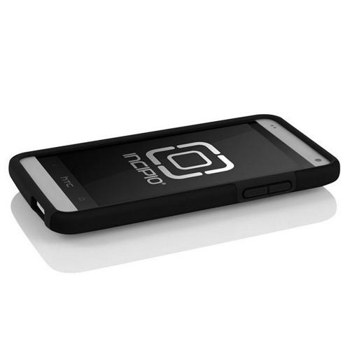 Incipio Black Dual PRO Series Rubberized Hard Case on Silicone w/ Screen Protector for HTC One Mini - HT-375