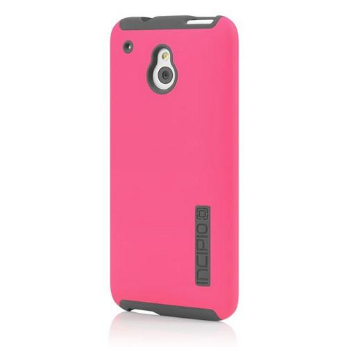 Incipio Hot Pink/ Gray Dual PRO Series Rubberized Hard Case on Silicone for HTC One Mini - HT-376