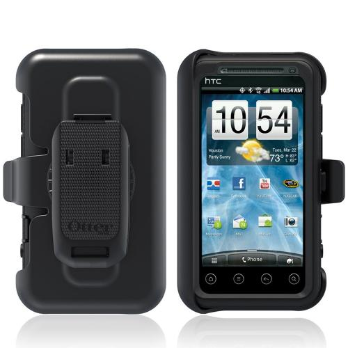 Original Otterbox Defender Series HTC EVO 3D Silicone Over Hard Case w/ Holster & Built-In Screen Protector, HTC2-EVO3D-20-E4OTR - Black