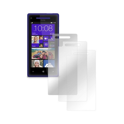HTC 8X Screen Protector Medley w/ Regular, Anti-Glare, & Mirror Screen Protectors