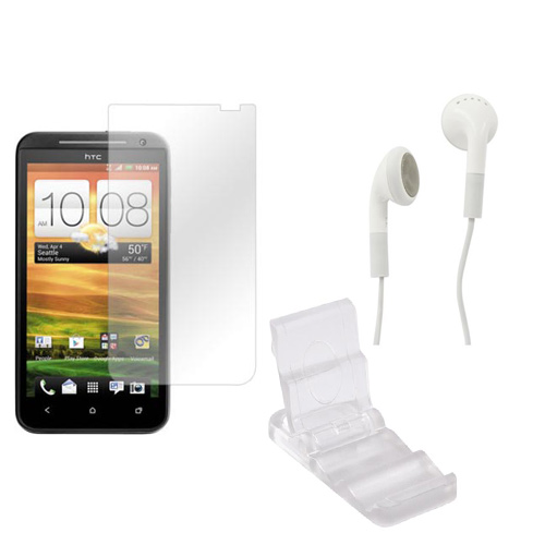 Htc Evo 4g Lte Summer Package: Dicapac Waterproof Phone Case, Anti-glare Screen Protector, Solar Charger, 3.5mm Earbuds, Portable Keychain Kick Stand