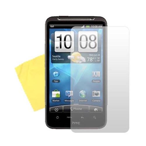 HTC Inspire 4G Essential Bundle Package w/ Blue Skin Case, Screen Protector and Car Charger