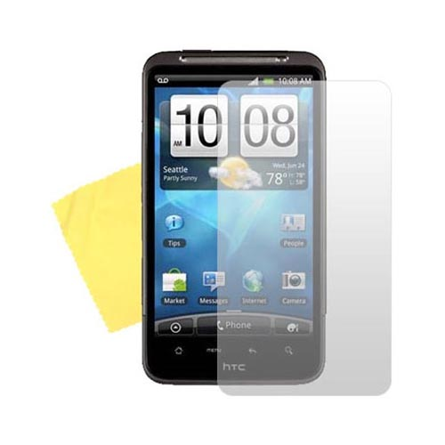 HTC Inspire 4G Essential Bundle Package w/ Red Skin Case, Screen Protector and Car Charger