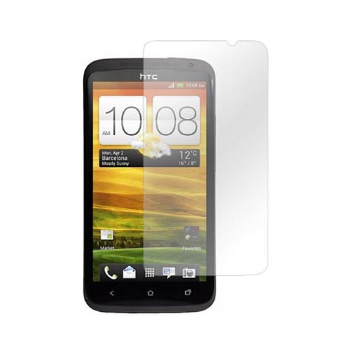 HTC One X Essential Bundle Package w/ Black Rubberized Hard Case, Anti-Glare Screen Protector, Leather Pouch, Car & Travel Charger
