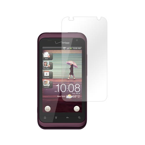 HTC Rhyme Essential Bundle Package w/ Clear Silicone Case, Screen Protector, Car & Travel Charger