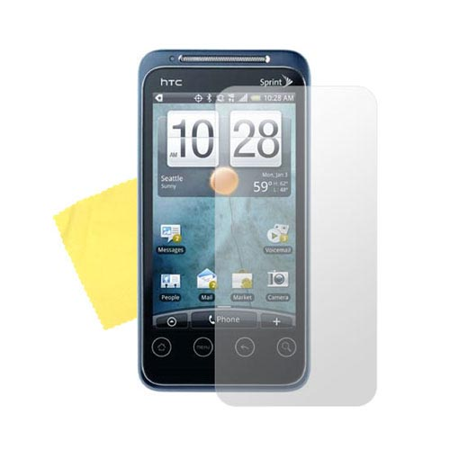 HTC EVO Shift 4G Essential Bundle w/ Transparent Clear Hard Case, Screen Protector, Data Cable, and Suction Stand