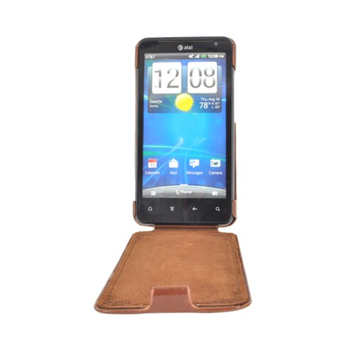 Original Zenus HTC Vivid Leather Bar Series Case, HTRAI-MLSFD-BW - Brown