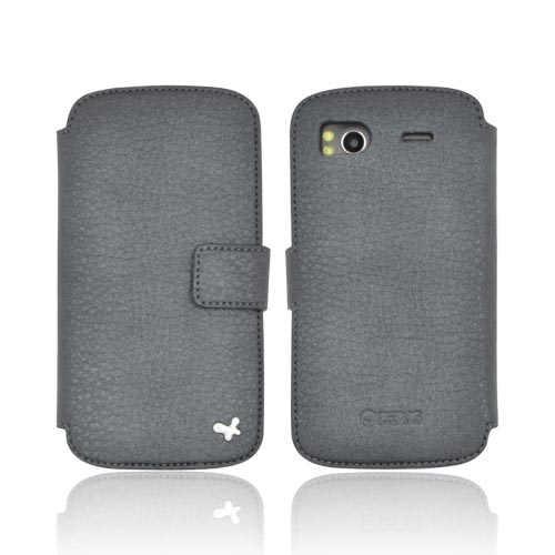 Original Zenus HTC Sensation 4G Masstige Shrunken Diary Series Leather Case, HTSAN-MLSDY-PG - Pearl Dark Gray