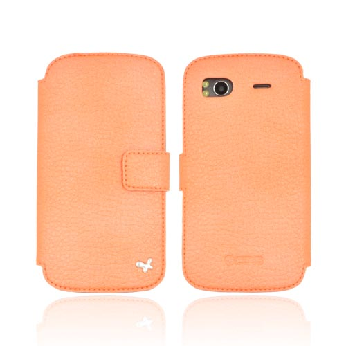Original Zenus HTC Sensation 4G Masstige Shrunken Diary Series Leather Case, HTSAN-MLSDY-PO - Pearl Orange