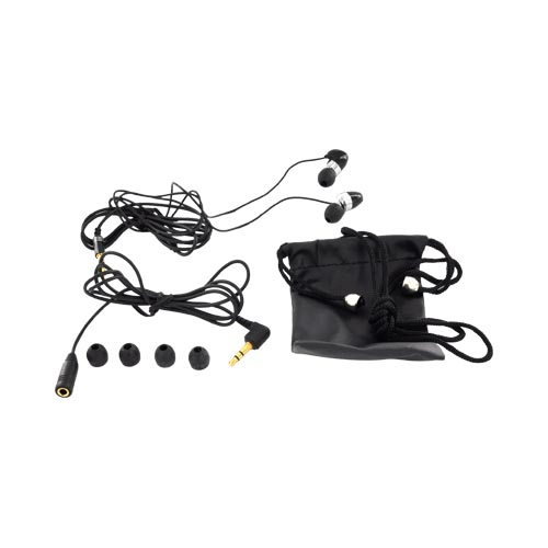 Original HYPE Digital Universal Stereo Headset w/ Interchangeable Earbuds (3.5mm), HY-75-EB-BLK - Black