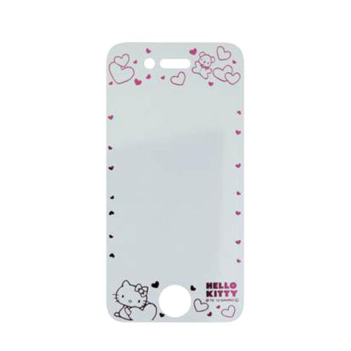 Officially Licensed Sanrio Hello Kitty AT&T/ Verizon Apple iPhone 4, iPhone 4S iDress Screen Protector, I4S-SF4KT - Transparent w/ Pink Hearts