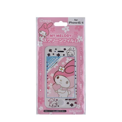 Officially Licensed Sanrio My Melody AT&T/ Verizon Apple iPhone 4, iPhone 4S iDress Screen Protector, I4S-SF4MM - Transparent w/ Pink Flowers