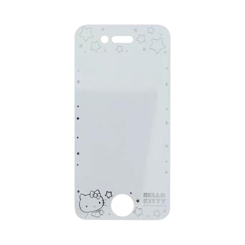 Officially Licensed Sanrio Hello Kitty AT&T/ Verizon Apple iPhone 4, iPhone 4S iDress Screen Protector, I4S-SF5KT - Transparent w/ Silver Stars