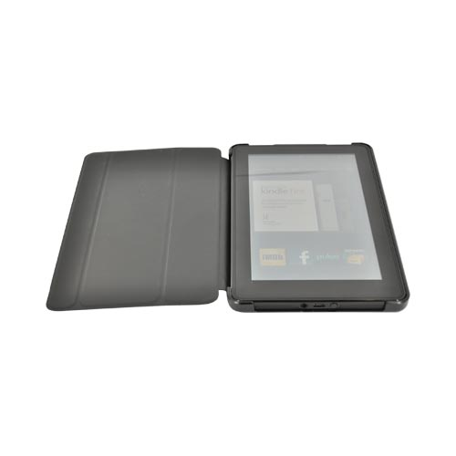 Original iLuv Epicarp Amazon Kindle Fire Slim Folio Hard Case Cover w/ Stand, IAK507BLK - Black