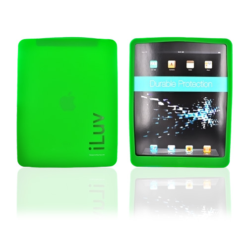 Original iLuv Apple iPad (1st Gen) 1st Silicone Case, Rubber Skin, ICC801GRN - Dark Green