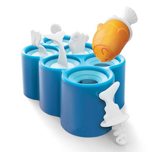 [Fish POP] Blue Ice Cube Tray Set [6pcs]