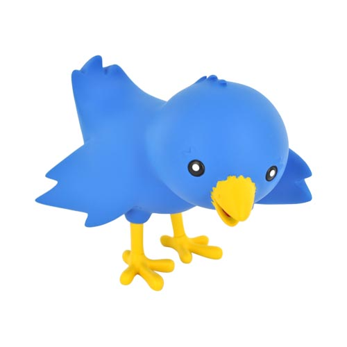 Original Ollie the Twitterrific Bird Collectable Figurine - Blue/ Yellow