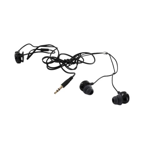 Original iLuv Stereo Headset w/ Volume Control and Noise Isolation, IEP311BLK - Black (3.5mm)