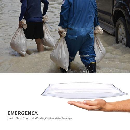 [Water 911] Self-Inflating Sandless Polymer Sandbag [Large] (58 x 34 x 3 cm) - 6 Pack!