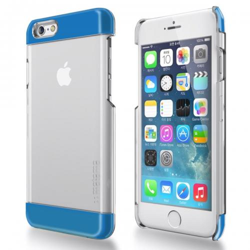 Apple iPhone 6/ 6S Case,  [Blue] INO Wing Series Slim & Protective Crystal Glossy Snap-on Hard Polycarbonate Plastic Case Cover