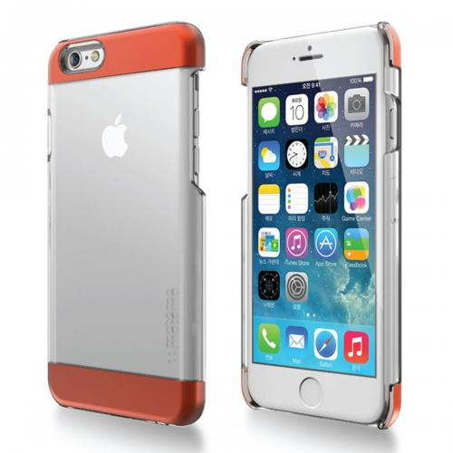 Apple iPhone 6/ 6S Case,  [Orange] INO Wing Series Slim & Protective Crystal Glossy Snap-on Hard Polycarbonate Plastic Case Cover