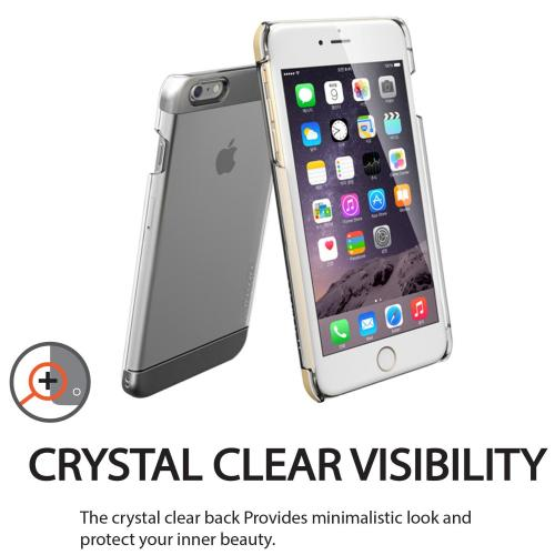Apple iPhone 6/ 6S Case,  [White] INO Wing Series Slim & Protective Crystal Glossy Snap-on Hard Polycarbonate Plastic Case Cover