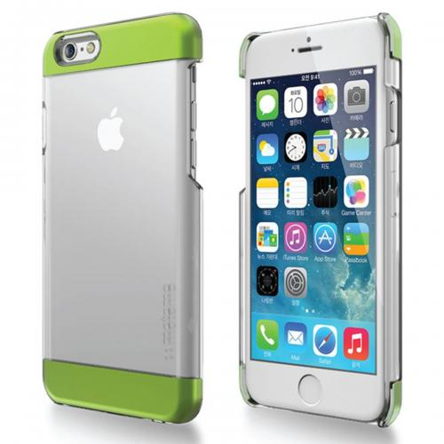 Apple iPhone 6 PLUS/6S PLUS (5.5 inch) Case, INO Wing Series [Green] Slim Clear Form-Fitting Hard Plastic Protective Case Cover