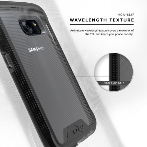 Samsung Galaxy S7 Case, ION Single Layered Shockproof Protection TPU & PC Hybrid Cover w/ Tempered Glass [Black/ Clear]