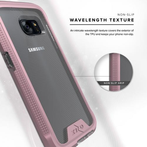 [Samsung Galaxy S7] Case, ION Single Layered Shockproof Protection TPU & PC Hybrid Cover w/ Tempered Glass [Rose Gold/ Clear]