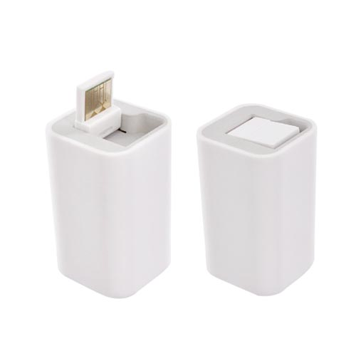 Original Incipio Apple iPod/iPhone Backup Battery Micro USB Port Charger, IP-645 - White (NO OUTLET REQUIRED)