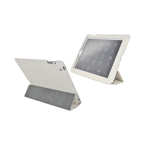 Original Hornettek Apple iPad 2 FlipIt Sleek Smart Cover Case/ Stand, IP2-HSL-PW - Pearl White
