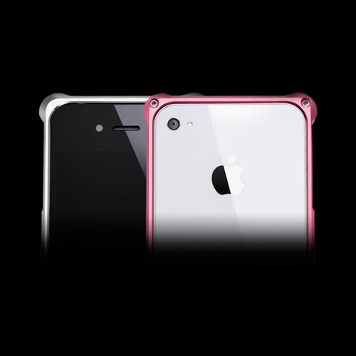 Original Hornettek Vader AT&T/ Verizon iPhone 4, iPhone 4S Dual Shell Aluminum Case, IP4AL01-SP - Silver/ Pink
