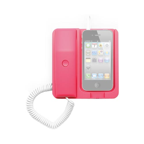 Apple iPhone 3G/ 3GS/ 4/ 4S Corded Handset Desktop Phone - Pink