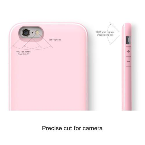 Apple iPhone 6 PLUS/6S PLUS (5.5 inch) Case, Design Skin [Baby Pink] SLIDER Premium 3-Layer Bumper Protective Storage Case w/ Shockproof Sliding Cards Slots