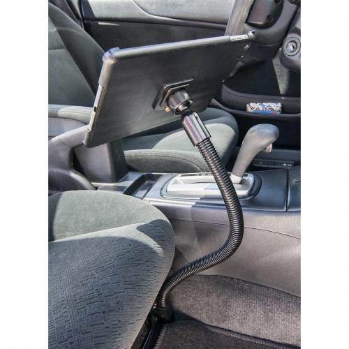 "Arkon Black iPad Air Custom Fit Mount - 22"" Car Seat Rail Mount Flex Gooseneck (IPA-CFH + GN088L22-SBH)"