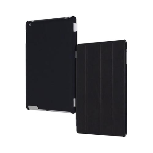 Original Incipio Apple iPad 2, New iPad Feather Rubberized Hard Case w/ Screen Protector, IPAD-255 - Black (Can be used w/ Apple Smart Cover)