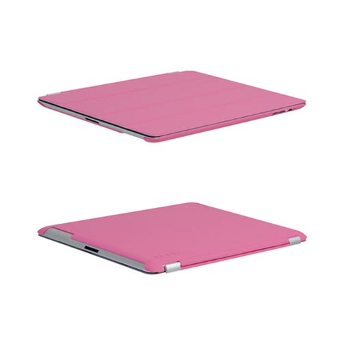 Original Incipio Apple iPad 2, New iPad Feather Rubberized Hard Case w/ Screen Protector, IPAD-259 - Pink (Can be used w/ Apple Smart Cover)