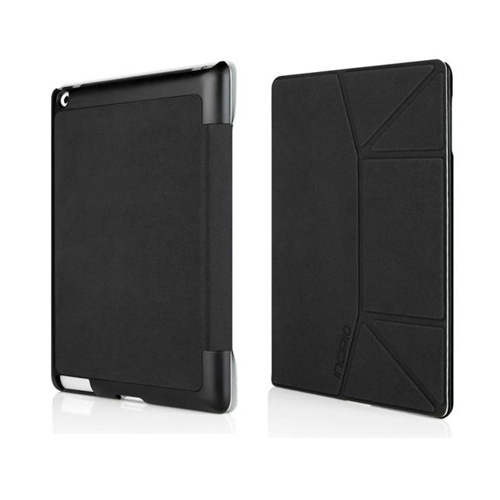 Original Incipio LGND Slim Folio Apple iPad 2/ New iPad Suede Hard Case Stand, IPAD-284 - Black
