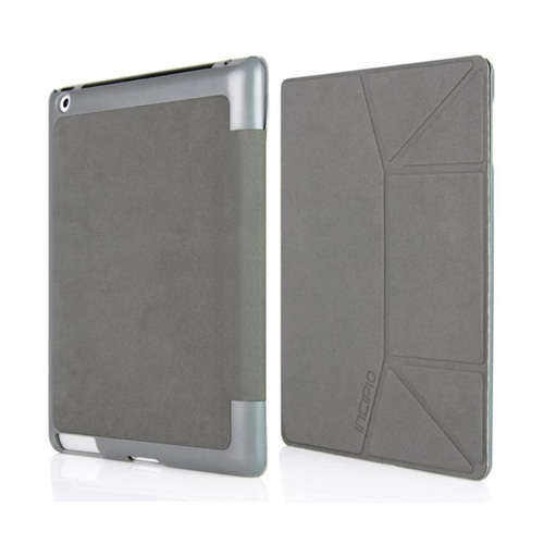 Original Incipio LGND Slim Folio Apple iPad 2/ New iPad Suede Hard Case Stand, IPAD-289 - Gray